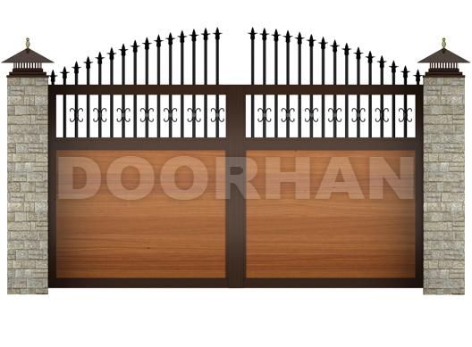 распашные ворота ДОРХАН арочные