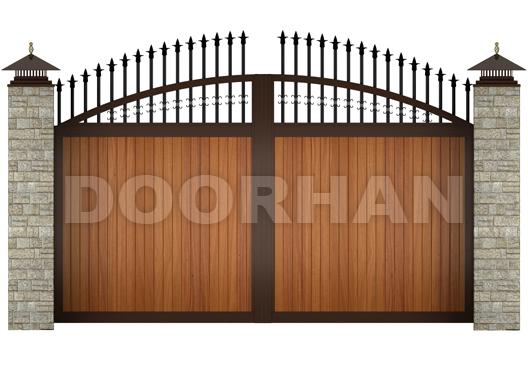распашные ворота арочные дорхан