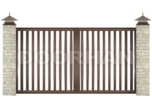 распашные ворота решетка