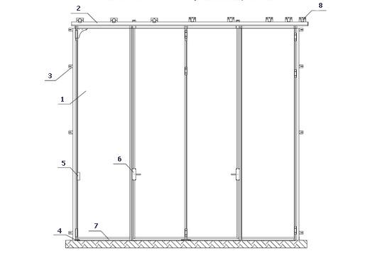 Конструкция складных ворот