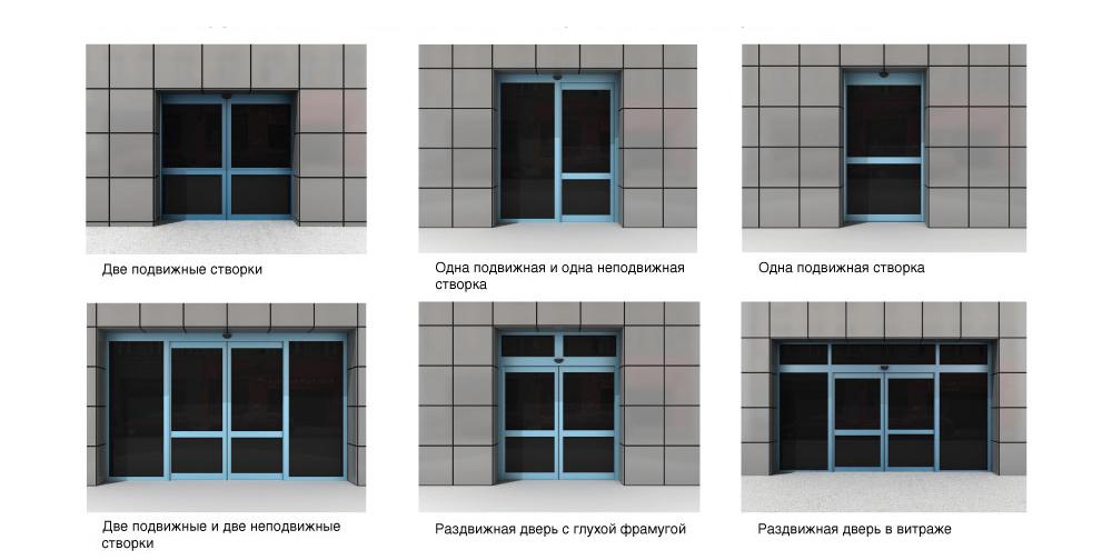 варианты автоматических дверей